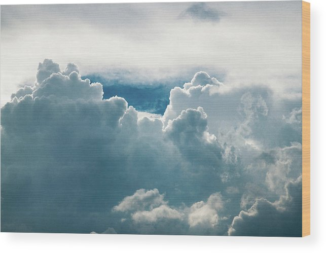 Clouds Wood Print featuring the photograph Cotton Clouds by Marc Wieland