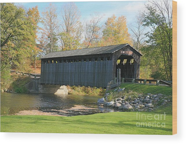 Covered Bridge Wood Print featuring the photograph Covered Bridge by Robert Pearson