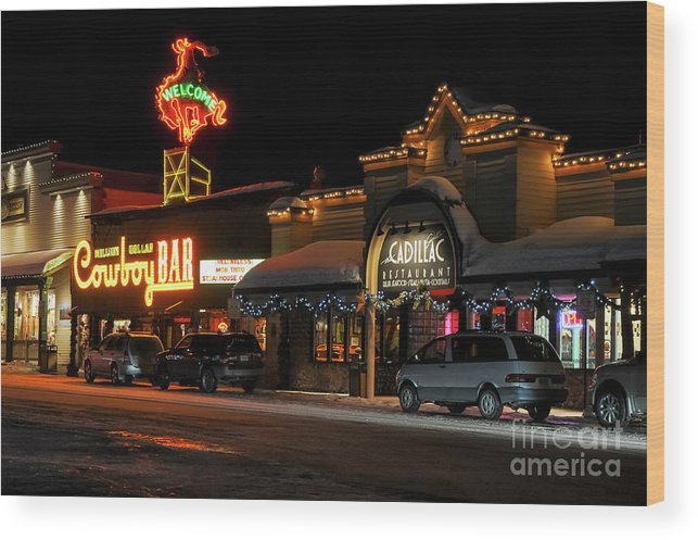Cowboy Bar Wood Print featuring the photograph Cowboy Bar by Bob Phillips