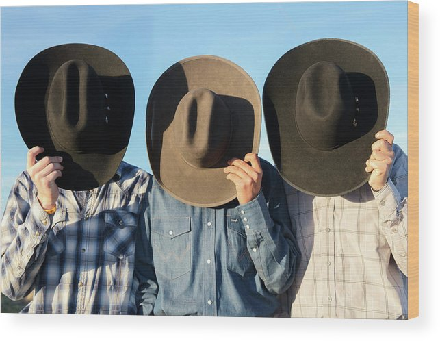 Cowboys Wood Print featuring the photograph Cowboys Anonymous by Todd Klassy