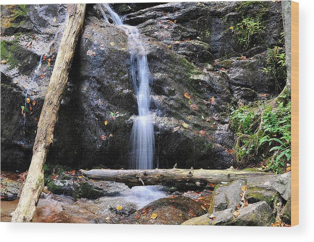 Crabtree Falls Wood Print featuring the photograph Crabtree Falls In Fall by Todd Hostetter
