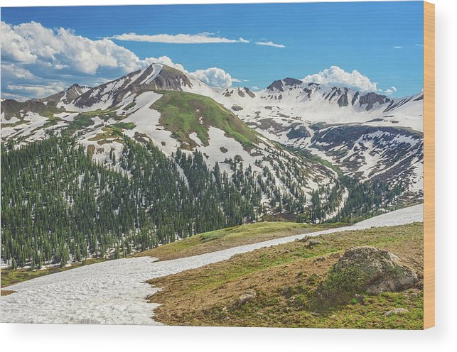 Independence Pass View Wood Print featuring the photograph Dagda, The Irish God Of The Earth by Bijan Pirnia