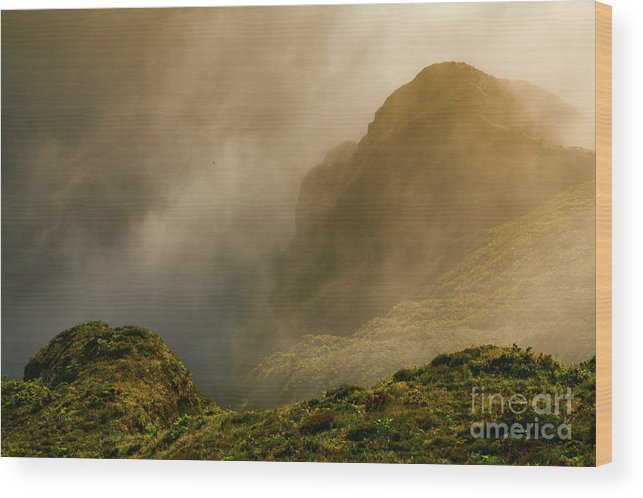 Azores Wood Print featuring the photograph Dawn At Fogo Crater by Gaspar Avila