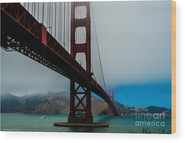 Golden Gate Bridge Wood Print featuring the photograph Daybreak At The Golden Gate by Tommy Anderson