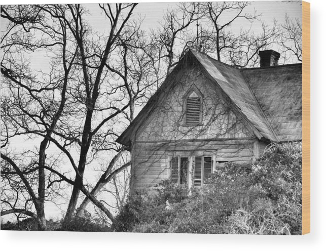 Architectural Wood Print featuring the photograph Days Gone By by Jan Amiss Photography
