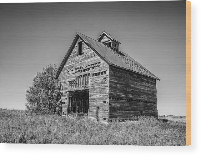 Illinois Wood Print featuring the photograph Decrepit Barn by John McArthur