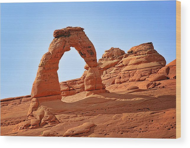 Landscape Wood Print featuring the photograph Delicate Arch The Arches National Park Utah by Christine Till