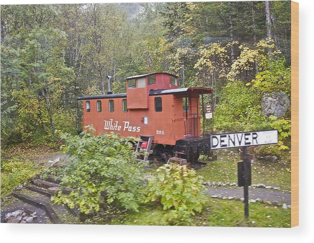 White Pass Line Wood Print featuring the photograph Derailed by Robert Joseph