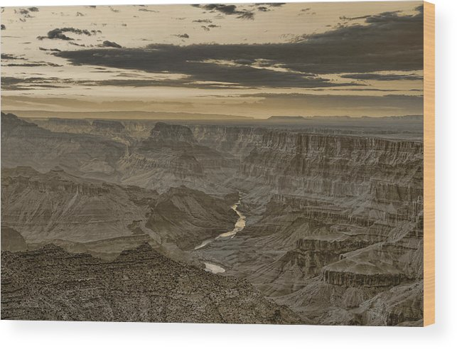 Grand Wood Print featuring the photograph Desert View II - Anselized by Ricky Barnard