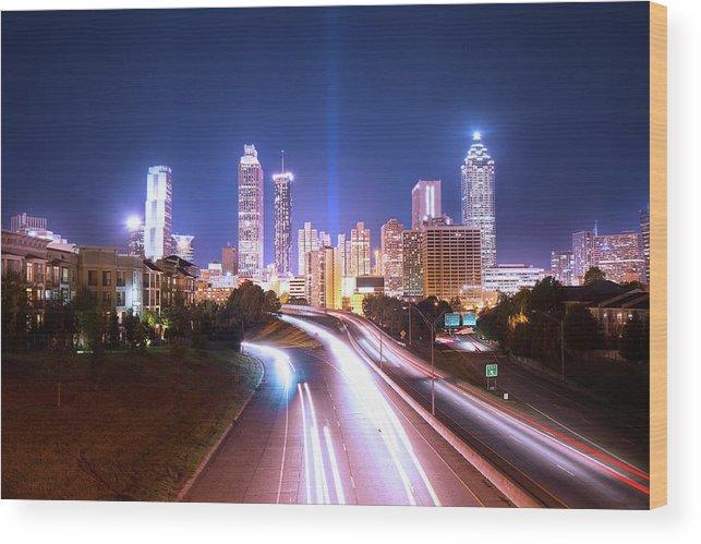 Atlanta Wood Print featuring the photograph Destination Atlanta by Mark Andrew Thomas