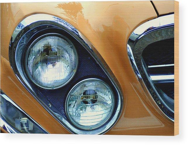 Headlights Wood Print featuring the photograph Diagonal Headlights by Lynn Bawden