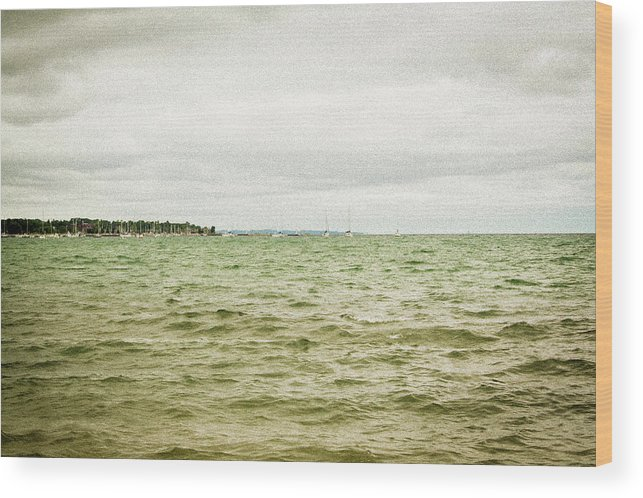 Sailboats Wood Print featuring the photograph Distant Sails by Keith Kadwell