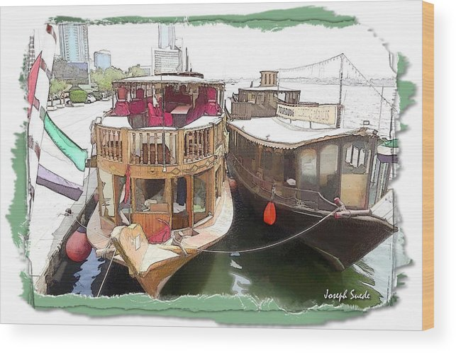 Boats Wood Print featuring the photograph Do-00475 Old Boats by Digital Oil
