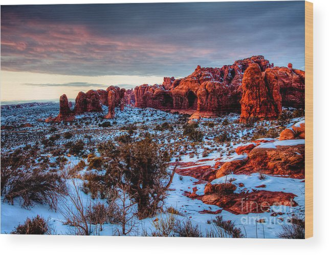 Hdr Wood Print featuring the photograph Dreaming Of Utah IIi by Irene Abdou