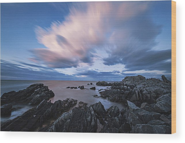 Frank Olsen Wood Print featuring the photograph Drifting Clouds II by Frank Olsen