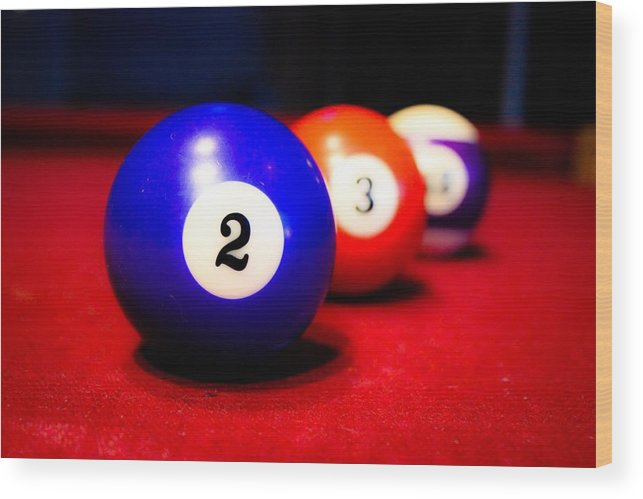 Pool Table Wood Print featuring the photograph Duces by Purvis Jordan