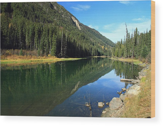 Duffey Wood Print featuring the photograph Duffey Lake Reflection by Pierre Leclerc Photography