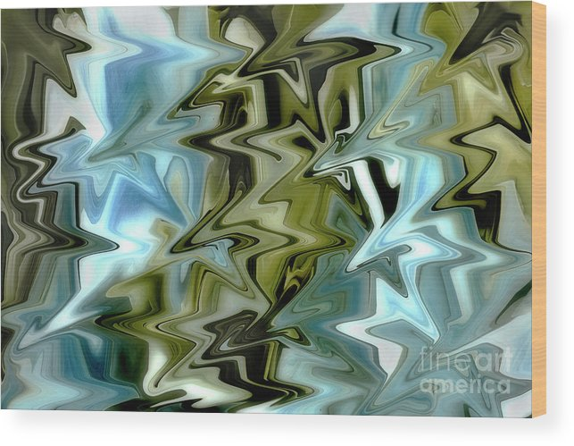 Abstract Wood Print featuring the photograph Dynamic by Mike Eingle