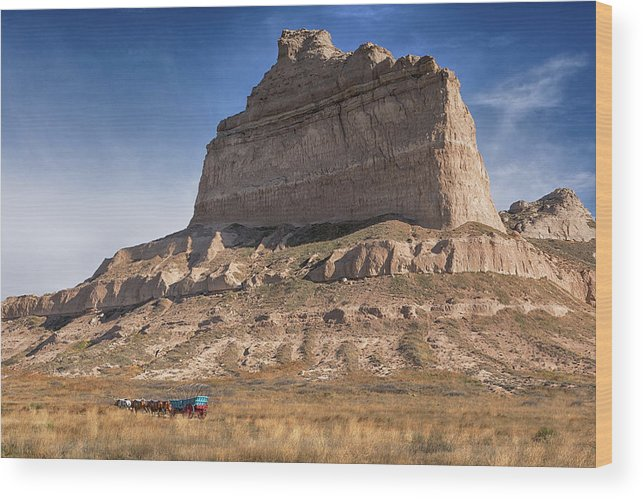 Scotts Bluff Wood Print featuring the photograph Eagle Rock by Susan Rissi Tregoning