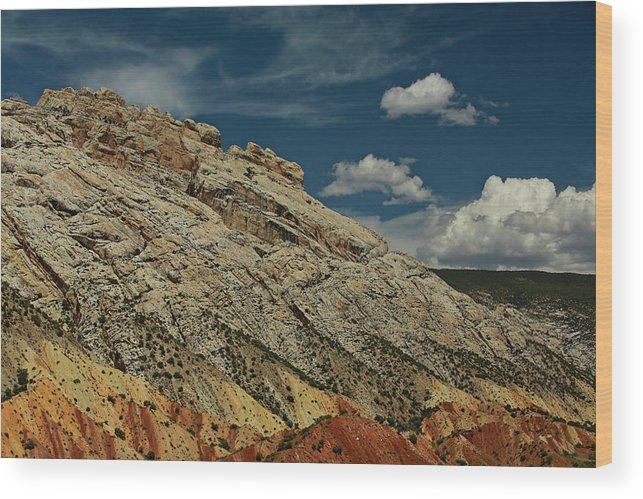 Desert Southwest Wood Print featuring the photograph Eargth And Sky by Kurt Meredith