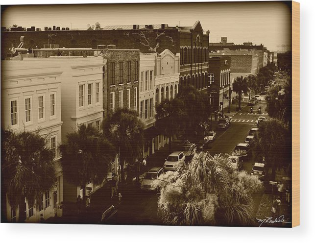 east Bay Street Wood Print featuring the photograph East Bay Street by Melissa Wyatt