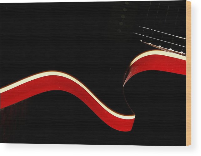 Guitar Wood Print featuring the photograph Ed's Red 1 by Art Ferrier