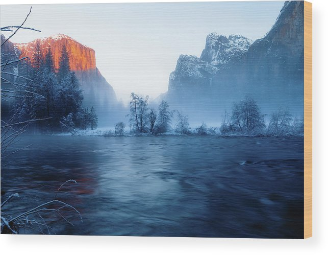 Beautiful Wood Print featuring the photograph El Capitan At Blue Hour by Ozeias Santana