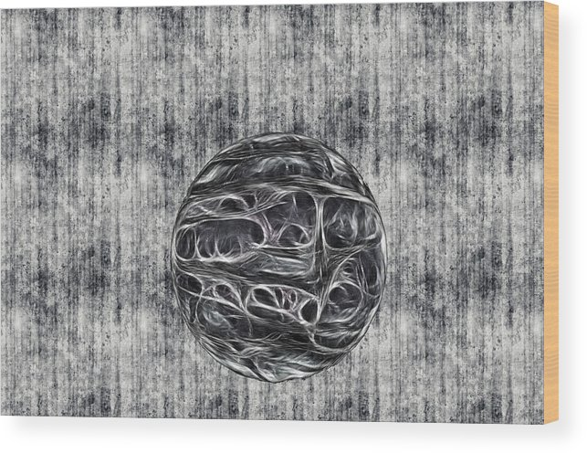 Abstract Wood Print featuring the digital art Elude by Thomas MacPherson Jr