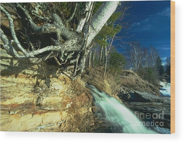 River Wood Print featuring the photograph Empties Into Lake Superior by Sven Brogren