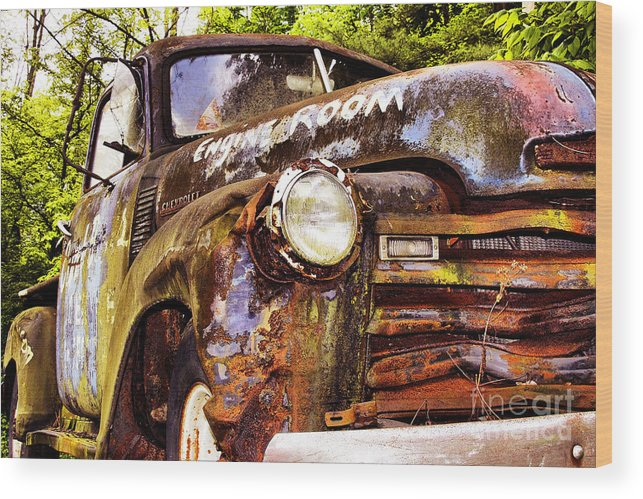 Trucks Wood Print featuring the photograph Engine Room by Tom Griffithe