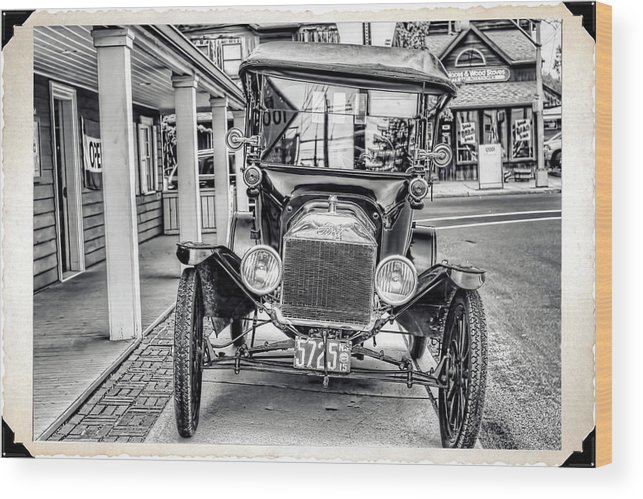 Recent Wood Print featuring the photograph Englishtown New Jersey Antique Classic Car by Geraldine Scull