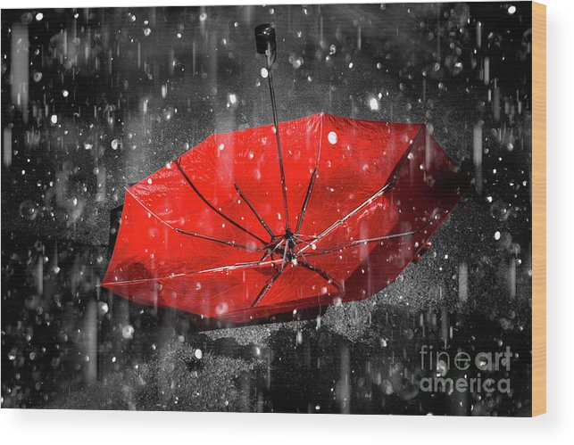 Red Wood Print featuring the photograph Epiphany by Jorgo Photography - Wall Art Gallery