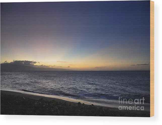 Maui Wood Print featuring the photograph Eternal Light by Rosy Kueng