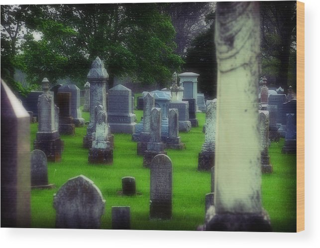 Cemetery Wood Print featuring the photograph Ethereality by Carl Perry