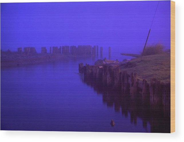 Fog Wood Print featuring the photograph Ettiene's Dawn Two by Julius Reque