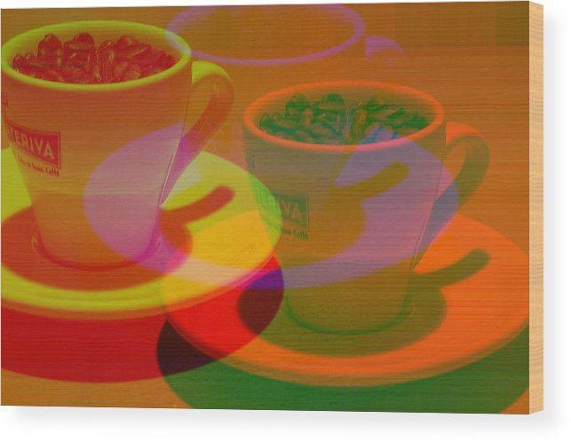 Cafe Wood Print featuring the photograph Expresso.piccolo.offset by Robert Litewka