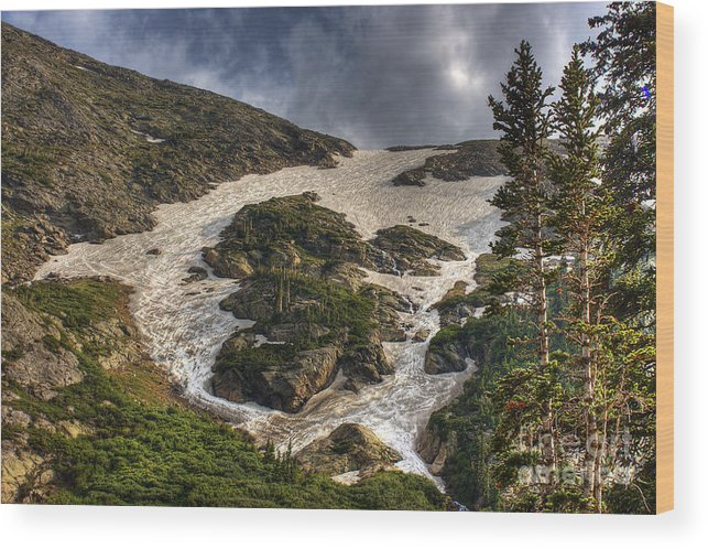 Landscape Wood Print featuring the photograph Extreme Trail by Pete Hellmann