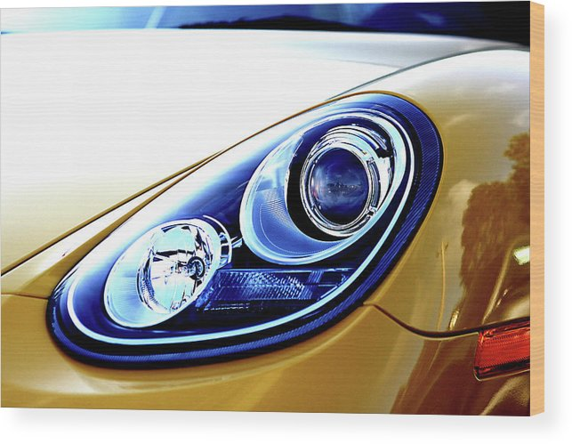 Porsche Wood Print featuring the photograph Eye Of The Porsche by David Paul Murray