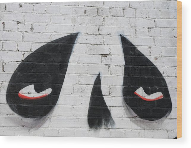 London Wood Print featuring the photograph Eyes And Nose On A Wall by Luigi Petro