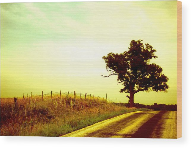 Iowa Wood Print featuring the photograph Faded Sky by Jame Hayes