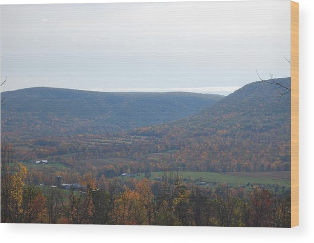 Mountain Wood Print featuring the photograph Fall Colors In Nippenose Valley by Richard Botts