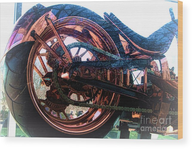 Liberty Bike Wood Print featuring the photograph Famous Liberty Bike Copper Ny by Chuck Kuhn