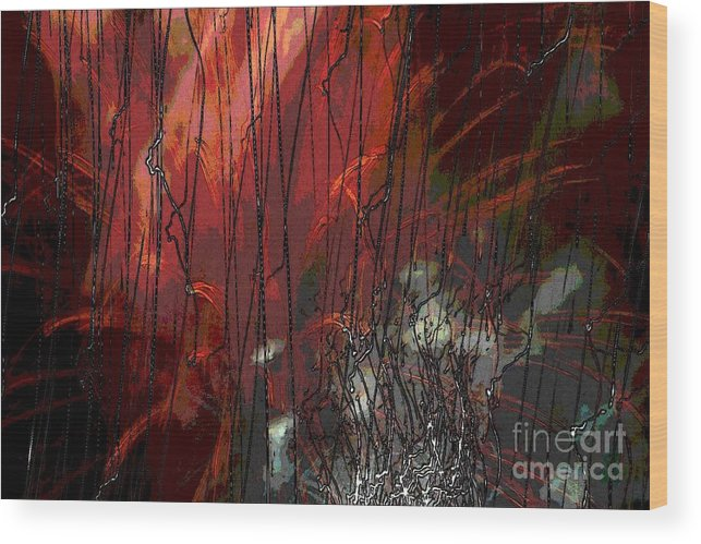 Lights Wood Print featuring the photograph Firecracker Dancing Light by Rabecca Primeau