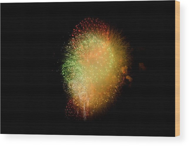 Stadium Wood Print featuring the photograph Fireworks by Brynn Ditsche