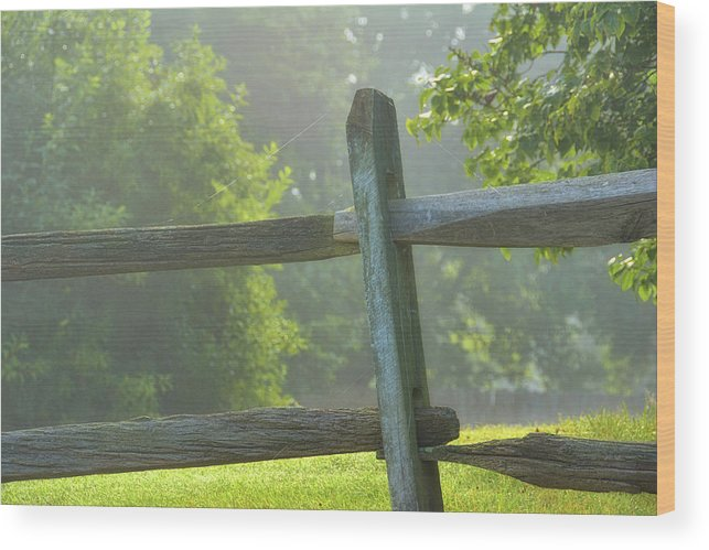 Farm Wood Print featuring the photograph First Light by Jamart Photography