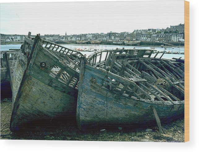 Fisher Boats Wood Print featuring the photograph Fisher Boats by Flavia Westerwelle