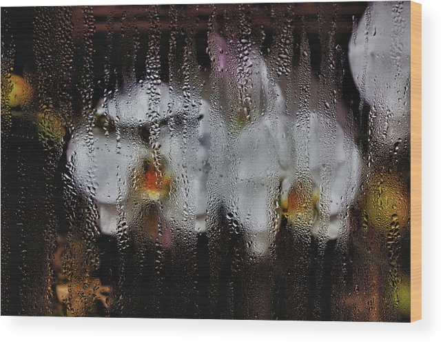 Flowers Wood Print featuring the photograph Flower Shop Window 2 by Robert Ullmann