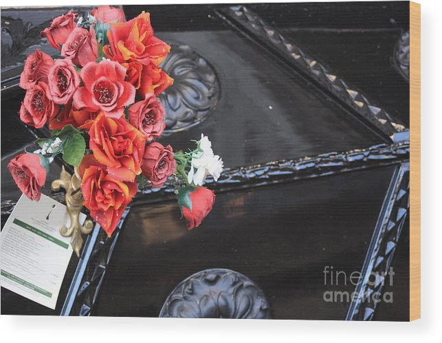 Italy Wood Print featuring the photograph Flowers On Gondola In Venice by Michael Henderson