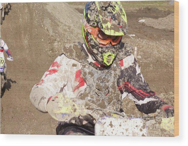 Dirt Bike Wood Print featuring the photograph Focus by Ellen Flayderman