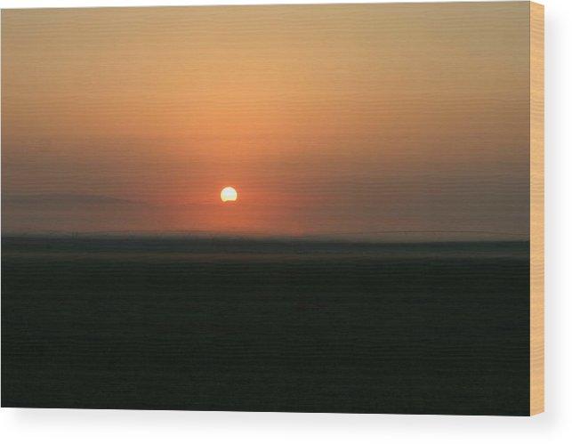 Sun Rise Wood Print featuring the photograph Foggy Sun Rise by Kevin Dunham